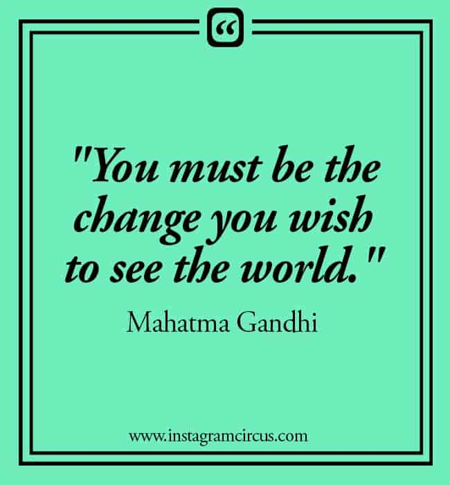 Gandhi quotes on change