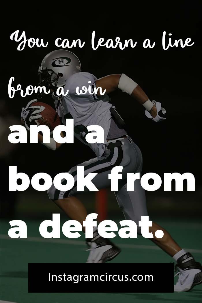 Short football quotes