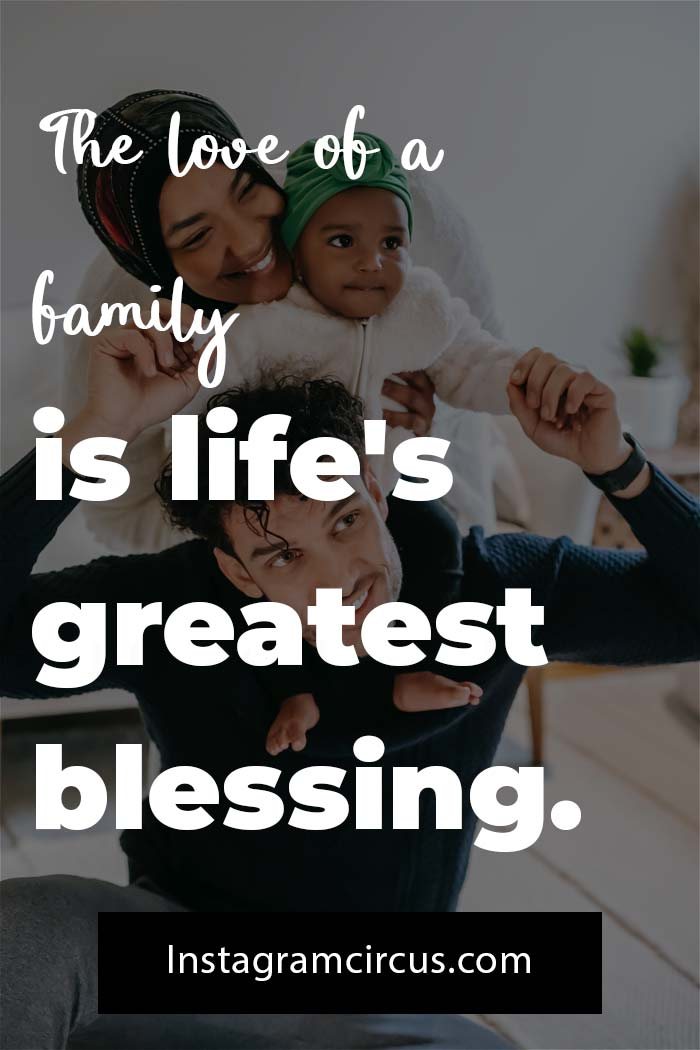 Happy Instagram caption for family