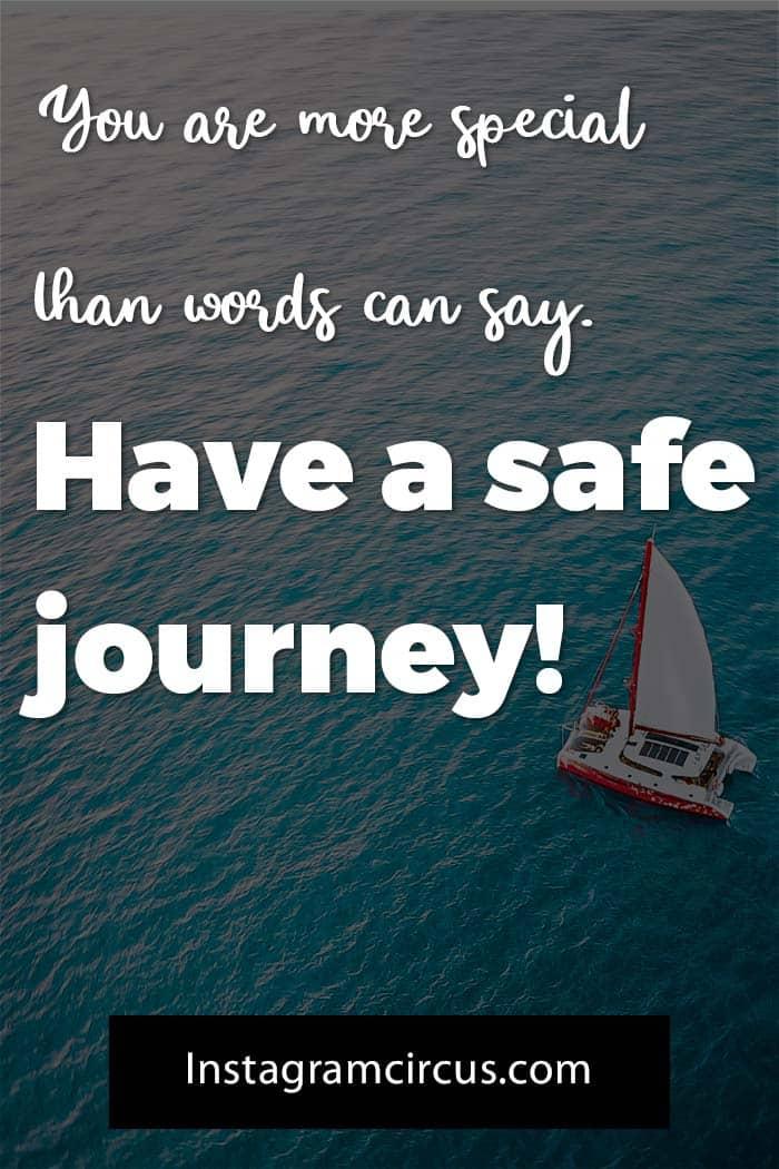 Have a safe trip message